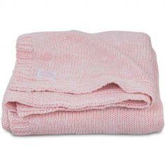 Couverture Melange knit rose poudré (100 x 150 cm)