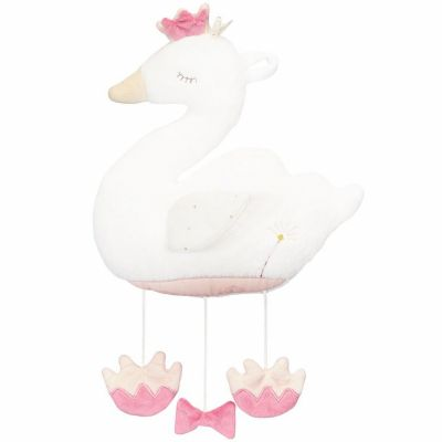 Mobile en peluche cygne Baby Swan (30 cm)  par Sauthon