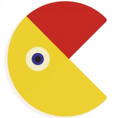 Lettre décorative oiseau C