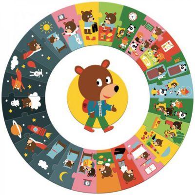 Puzzle géant La journée (24 pièces)  par Djeco