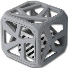 Hochet cube de dentition gris foncé