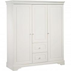 Armoire 3 portes et 2 tiroirs Elodie Gris