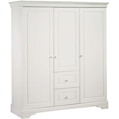 Armoire 3 portes et 2 tiroirs Elodie Gris  par Sauthon Signature