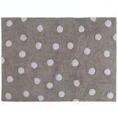 Tapis lavable gris à pois blanc (120 x 160 cm) - Lorena Canals