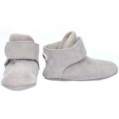 Bottes bébés en cuir gris clair (6-12 mois) Lodger
