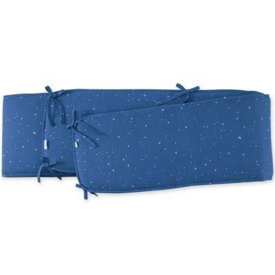 Tour de parc constellations Stary bleu jean (75 x 95 cm)  par Bemini