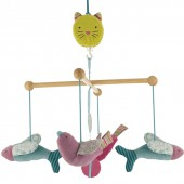 Mobile musical Oiseaux structure bois Les Pachats - Moulin Roty