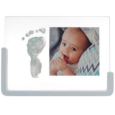 Cadre transparent empreinte et photo en bois  par Baby Art