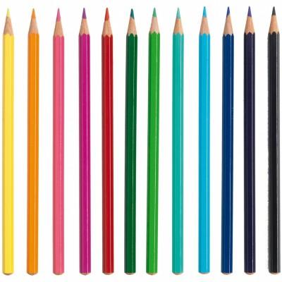 12 crayons de couleur  par Djeco