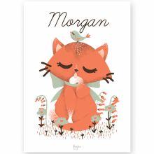 Affiche A3 Les Animignons le chat (personnalisable)  par Kanzilue