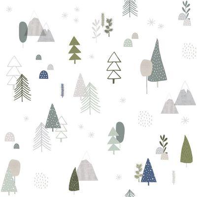 Papier peint intissé In the woods forêt (10 m)  par Lilipinso