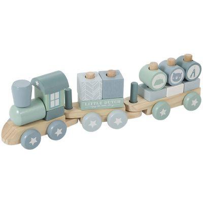 Train de construction Adventure blue  par Little Dutch