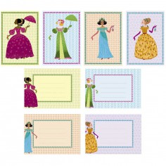 Pack de 8 cartes d'invitation des Princesses
