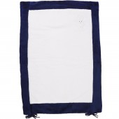Housse de matelas à langer Ange Lapin bleu marine et blanc (55 x 75 cm) - Trousselier