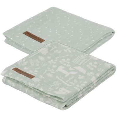 Lot de 2 langes Adventure mint (70 x 70 cm)  par Little Dutch