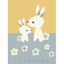 Affiche lapins Together (40 x 30 cm)  par Franck & Fischer