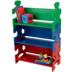 Bibliothèque enfant Puzzle multicolore