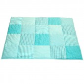 Tapis de jeu Patchwork bleu turquoise (100 x 80 cm) - Taftan