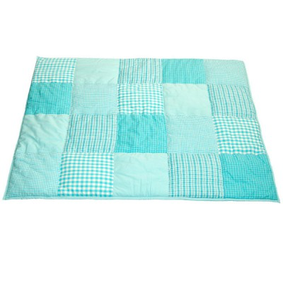 tapis de jeu patchwork bleu turquoise 100 x 80 cm taftan. Black Bedroom Furniture Sets. Home Design Ideas