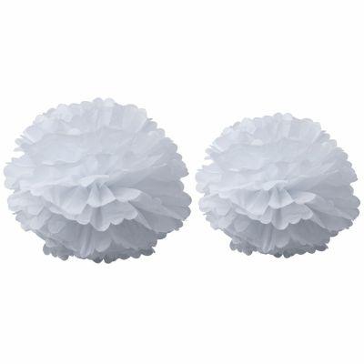 Pompons papier de soie blanc (2 pièces)  par Arty Fêtes Factory