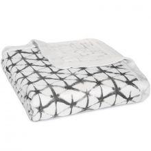 Couverture de rêve Dream Blanket Pebble shibori (120 x 120 cm)  par aden + anais