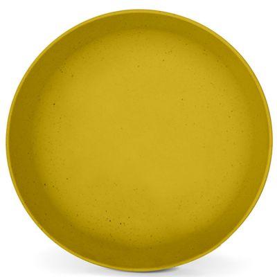 Assiette creuse en maïs jaune mimosa  par Signature Label Tour