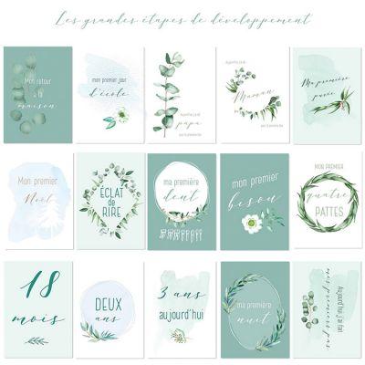 Cartes photos souvenirs mint Mon premier (15 cartes)