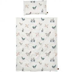 Housse de couette + taie d'oreiller Feathered Friends (100 x 130 cm)