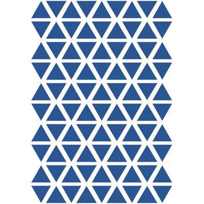 Stickers triangles adriatic bleus (29,7 x 42 cm)