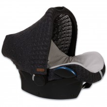 Capote pour siège-auto groupe 0+ Cable Soft gris anthracite  par Baby's Only