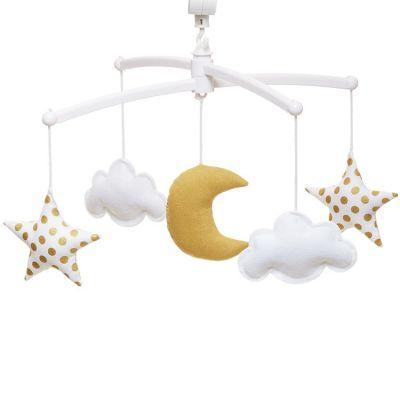 Mobile musical lune gold (6 mélodies au choix)  par Pouce et Lina