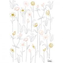 Planche de stickers A3 de petites fleurs sur tiges  par Lilipinso
