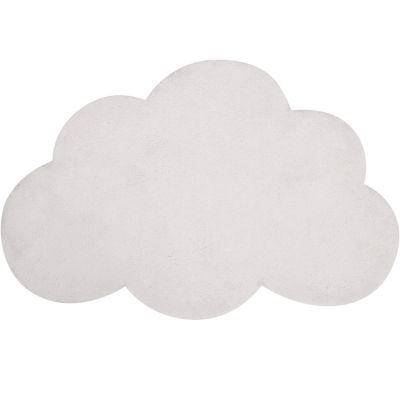 Tapis nuage en coton blanc (67 x 100 cm)  par Lilipinso