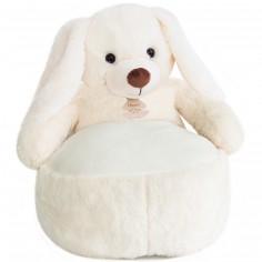 Peluche pouf Lapin blanc (50 cm)