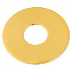 Bracelet empreinte mini pi sur double chaîne 14 cm (or jaune 750°)