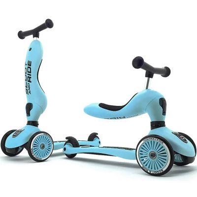 Porteur évolutif en trottinette Highwaykick 1 bleu  par Scoot And Ride