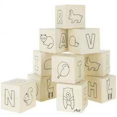 Cubes en bois Forest friends (10 cubes)