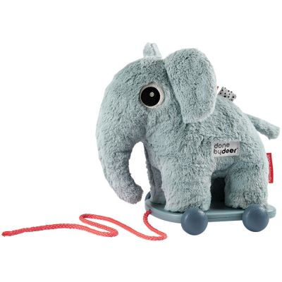 Jouet à tirer avec aimant Elphee éléphant bleu  par Done by Deer