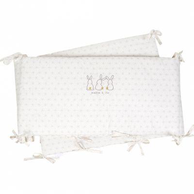 Tour de lit Pompom le lapin (pour lits 60 x 120 ou 70 x 140 cm)  par Little Crevette