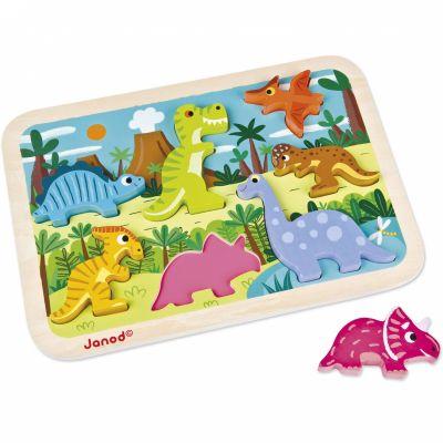 Puzzle à encastrement Chunky Dinosaures (7 pièces)  par Janod