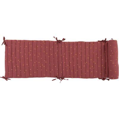 Tour de lit terracotta Après la pluie (180 x 40 cm)  par Moulin Roty