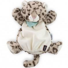 Doudou marionnette Les amis Cookie le léopard (30 cm)