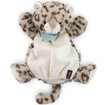 Doudou marionnette Les amis Cookie le léopard (30 cm) Kaloo