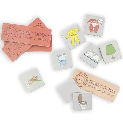 Magnets pour tableau éducatif Tout-doux liste Pour un dodo apaisé  par Mimi Bergamote