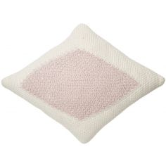 Coussin losange Candy Vanilla rose (30 x 40 cm)