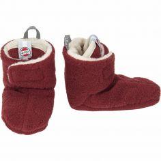 Chaussons rouge bordeaux Botanimal (6-12 mois)