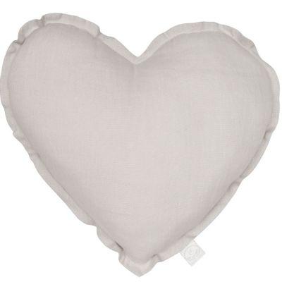 Coussin coeur gris (40 cm) Cotton&Sweets