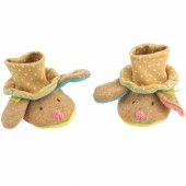 Chaussons beiges chien Les Tartempois (0-6 mois) - Moulin Roty