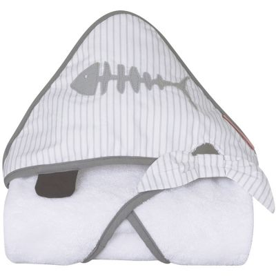 Cape de bain Pirate blanche (75 x 75 cm) Little Crevette