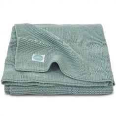 Couverture Basic knit vert d'eau (100 x 150 cm)